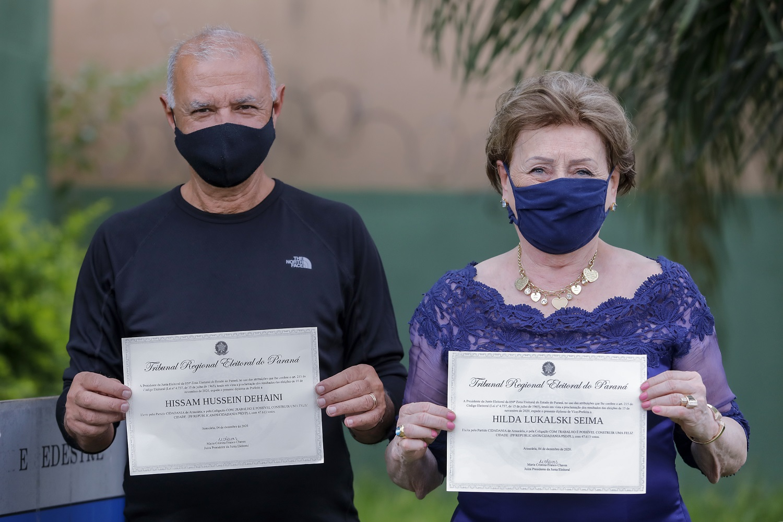 Prefeito Hissam e a vice-prefeita Hilda são diplomados para novo mandato em Araucária