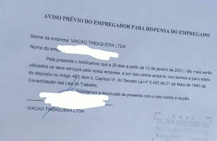 Tarifa do Triarzão a R$2,20 e motoristas com aviso prévio assinado!