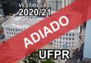 UFPR adia vestibular.
